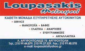 LOUPASAKIS MOTORSPORT - ΛΟΥΠΑΣΑΚΗΣ ΓΙΩΡΓΟΣ - ΣΥΝΕΡΓΕΙΟ ΑΥΤΟΚΙΝΗΤΩΝ ΑΡΓΥΡΟΥΠΟΛΗ - ΑΝΤΑΛΛΑΚΤΙΚΑ